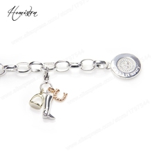 Thomas Style Base Link Charm Bracelet with Lucky Charms, Glam Jewelry Soul Gift for Women TS B274