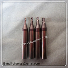 4 size a set key cutter 1.5mm,2.0mm,2.5mm,3.0mm carbide end milling cutters for WENXING key cutting machines