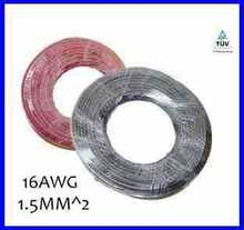 20m/lot 1.5mm^2 PV cable 16AWG Solar Power Cable Solar Panel Electric Copper Wire Photovoltaic Cables Factory Price(China)