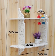 DIY Storage Holders & Racks,Bathroom Shelves Pure white One Set Of Wall-Mounted Wooden Partition With Two Layers decorative wall