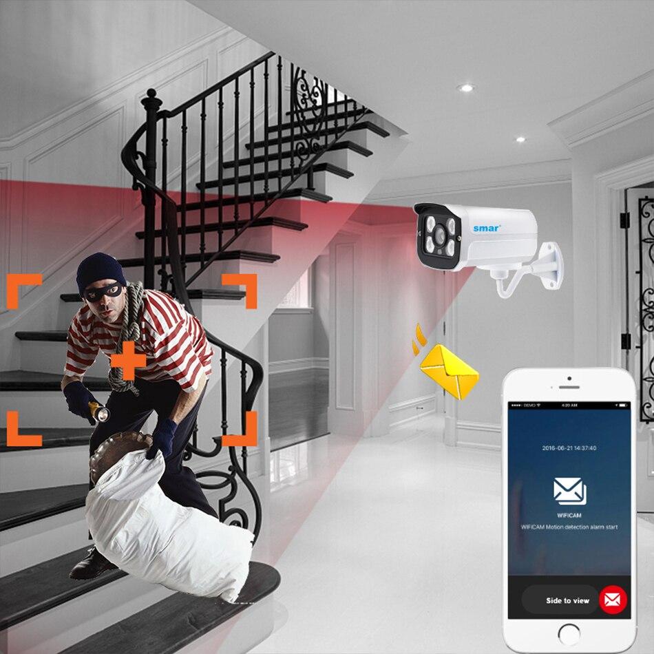 Smar HD IP Camera 720P 960P Outdoor  Camera ONVIF2.3 H.264 Waterproof IR Night Vision CCTV Home Metal Case XMEYE P2P (6)