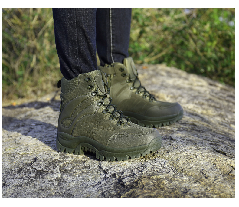 Brand Men's Boots Military boot Chukka Ankle Bot Tactical Big Size Army Male Shoes Safety Combat Mens Motocycle Boots (20)