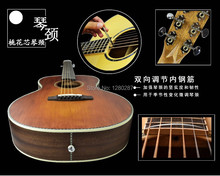 "lp acoustic guitar factory top spruce solid 36"" traveling acoustic guitar with eq, traveling guitar in stock  free shippig"