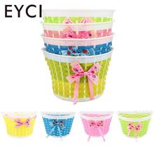 EYCI Bicycle Panniers Bike Bowknot Front Shopping Detachable Basket For Kids Girl(China)