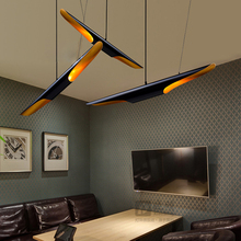LED Pendant Lamps Study Room Living Bedroom Decorative Restaurant Dining Kitchen Aluminum tube Black Cutting Pendant Lights(China)