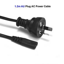 2 Prong AU Plug Power Cable C7 Figure 8 AC Adapters Australia Power Cord 1.2m 4ft For Battery Chargers PSP 4 Laptop Computer(China)