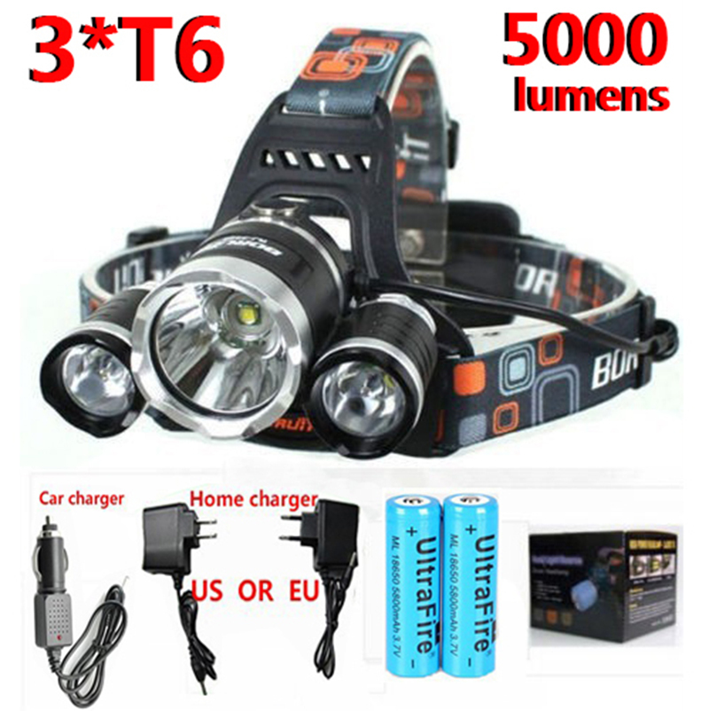 LED Headlamp 18650 battery xml t6 Camping Hunting Searchlight Fishing Bicycle riding Waterproof led headlight<br><br>Aliexpress