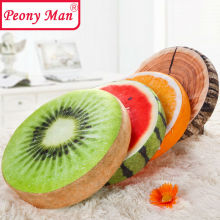 High Quality! 3D Simulation Plush Fruit Cushion Peony Man Round Pillow Chair Seat Sofa Meditation Floor Cushions Birthday Gift(China)