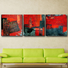 Modern Oil Painting on Canvas Wall Art Home Decoration 3Pcs For Living Room Stretched and Framed Ready to Hang canvas painting(China)