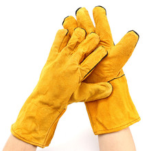 NEW Welding WELDERS Work Soft Cowhide Leather Plus Gloves For protecting hand