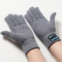 Bluetooth Wireless Sport Gloves earphones headsets headphones Winter Warm Gloves touch screen handsfree calls mp3 play for phone