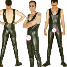 Buy Latex Men's Sleeveless Catsuit Bakcless Rubber Latex Jumpsuit Front Zip Latex Leotard 0.6MM Thickness Latex Costume