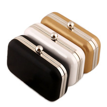 Women Evening Bag Luxury Brand Mini Leather Day Clutch Fashion Gold Black White Chain Purse Bridal Dinner Party Purse XA105H