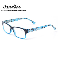 Reading Glasses Quality Fashion Spring Hinge Men and Women Glasses Classic Readers Temple With Flower Print for Reading