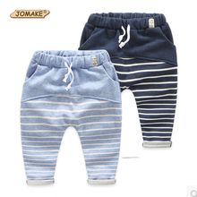 2-10yrs Spring Autumn Striped Pattern Boys Pants New 2017 Kid Pants Casual Cotton Children Trousers for Baby Boys Harem Pants