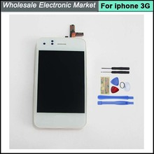 100% Test LCD and Touch Screen Digitizer Glass Assembly Replacement For iPhone 3 3G,HK Post Free Fast Shipping