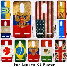 TAOYUNXI Soft TPU Phone Cases For Lenovo K6 K6 Power K33a42 5.0 inch Covers Hard Plastic Silicone Back Bags UK Russia Flags