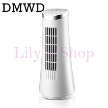 DMWD Tower fan mini air cooling fan office desktop bladeless electric table mini air conditioner fans left right head shaking EU(China)