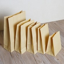 DHL 300Pcs/Lot 12*7*22cm Food Dessert Package Party Pouch Brown Vintage Kraft Gift Paper Bag Kraft For Food Bread Sandwich Nuts