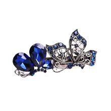 Fashion Hair Clip Hairpin Crystal Diamond Hairpin Tide Bowknot Hair Accessories Women Lady Hair Clips