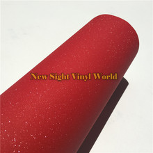 High Quality Glitter Red Sandy Sparkle Vinyl Film Decal Bubble Free For Phone Laptop Ipad Skin Cover Size:1.52*30M(China)