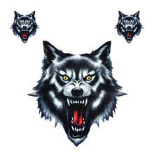 DWCX Vinyl Wolf Head Decals Waterproof Funny Self-adhesive Sticker for Motorcycle Motorbike Car Door Stickers Truck Helmet Decor(China)