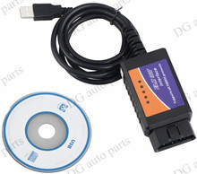 10pcs/lot ELM327 USB v2.1 OBD2 ELM 327 USB Auto Diagnostic Interface Scanner Code Reader Support Multi-brand Car free shipping(China)
