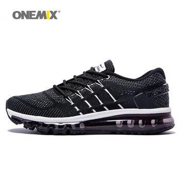 Onemix nuevos hombres corriendo zapatos zapato único diseño de la lengua zapatos respirables del deporte masculinos athletic zapatillas de deporte zapatos de hombre al aire libre
