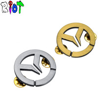 2 color Game overwatch LOGO brooch bronze silver charms accessories lapel pin badge 3.5*3.5cm fashion broches fans jewelry gift