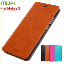 For Nokia 3 Case Cover MOFI Stand Case For Nokia 3 Hight Quality Flip Leather Cover For Nokia 3 Phone Case 5.0 inch(China)