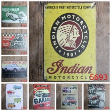20X30cm/classic motorcycles mini car garage antique retro metal tin sign Iron painting craft vintage home wall decoration
