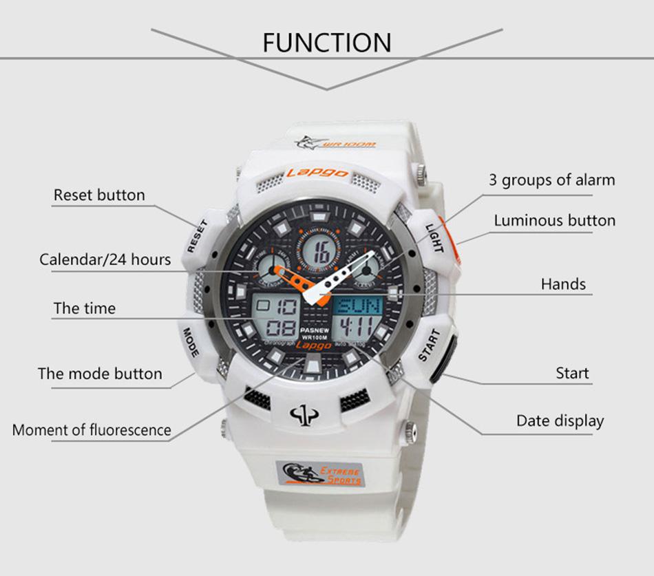 Free Shipping 100M Waterproof Men Sports Watches PASNEW Digital Swimming Dive Military Wristwatch Big Relogio Masculino Hodinky (6)