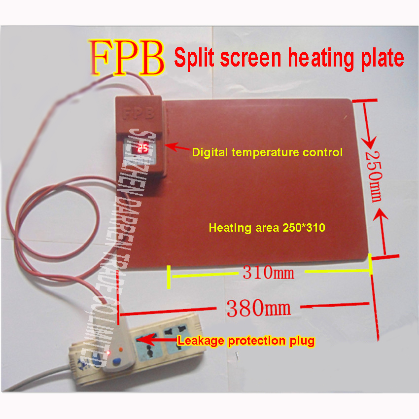 FPB Mobile Phone Repair Tablet notebook for iPad Demolition screen heating plate Silicone Replacement screen heater board<br>