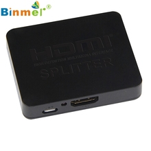 Del 1x2 HDMI Splitter 1 Input 2 Output Amplifier Switcher Box Hub HDTV 1080p 3D 1.4V Jun 23