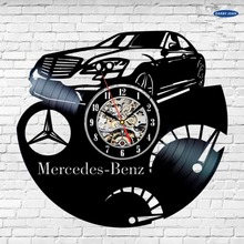 Mercedes Benz Car Logo Auto Classic Collection Vinyl Record Wall Clock duvar saati(China)