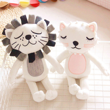 40cm Kawaii Plush Cat Lion Doll Toys For Children Room Decor Stuffed Plush Toys Kids Baby Appease Doll Girls Boys Christmas Gift(China)