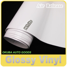 Gloss White Vinyl Glossy Film Car Wrapping Glossy Wrap Sticker Full Body Car Sticker 1.52*30m/roll