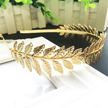 Women Punk Laurel Leaf Branch Leaves Headband Party Prom Hair Band Jewelry Floral Hairbands for Girls Female Ladies