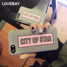 Lovebay Cute Cartoon Letter Phone Case For iPhone 6 6s Plus 7 7 Plus CITY OF STAR Ultra Thin Hard PC Phone Case Back Cover Bags