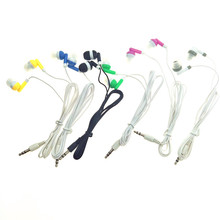 New 3.5mm in ear earphones earphone For cell phone mp3 mp4 DHL Fedex free shipping 200pcs/lot(China)