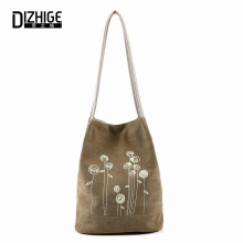 Spring And Summer Shoulder Bag Canvas Women  Handbags Bucket Ladies Hand Bags Casual Big Female Floral Tote Bag For Ipad Bolsos