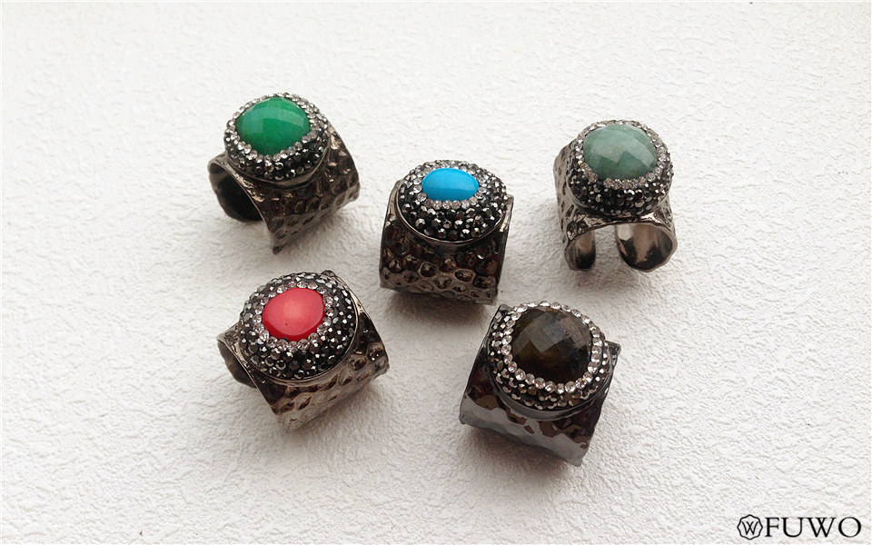 Carved Gem Stone Rings 12