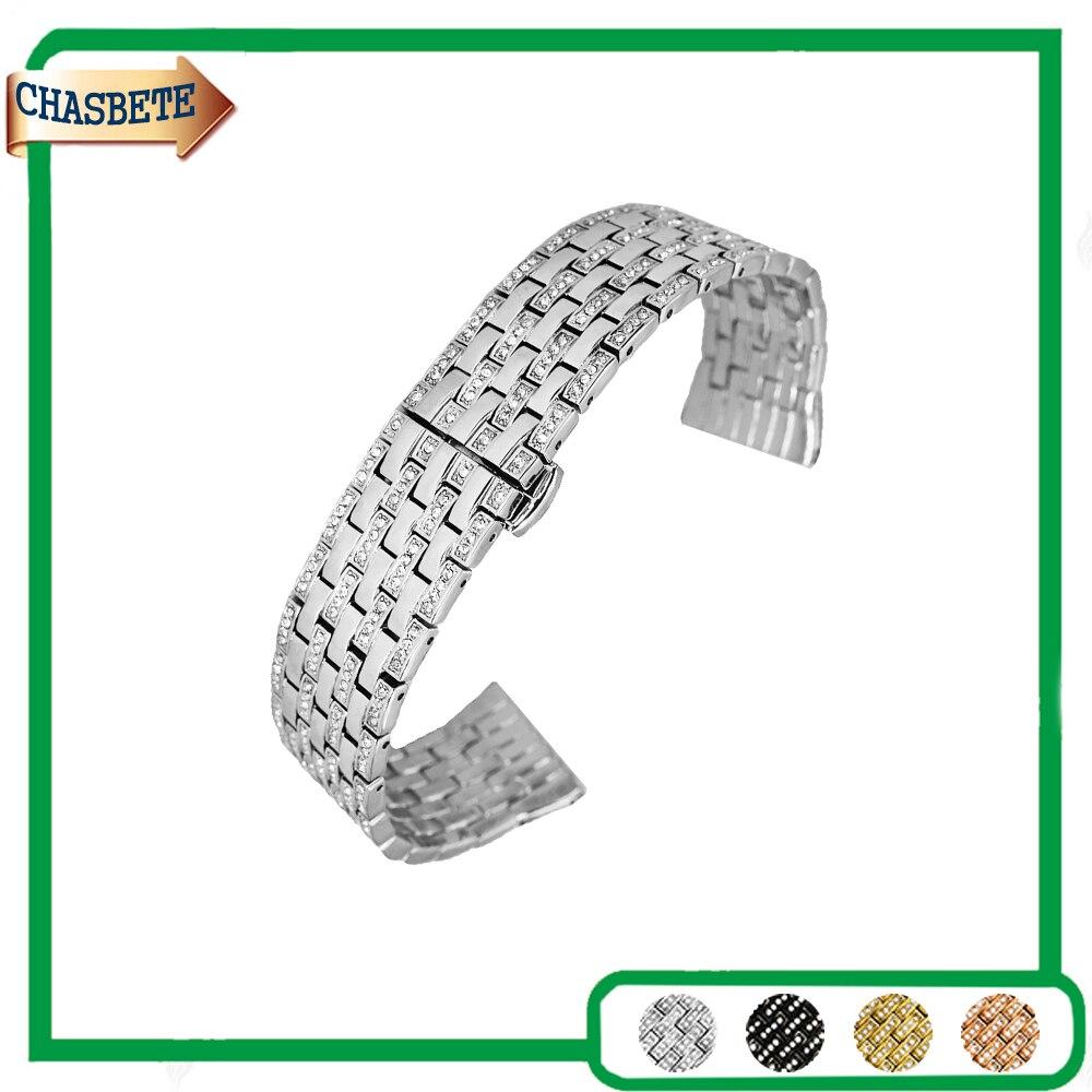 Stainless Steel Watch Band for Citizen Watchband 21mm Men Women Push-Button Hidden Clasp Metal Strap Belt Wrist Loop Bracelet<br>