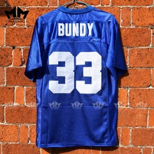 MM MASMIG Married With Children Al Bundy 33 Polk High American Football Jersey Blue
