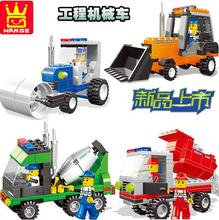 ENLIGHTEN City Construction Road Roller Forklift Truck Tractor Sweeper Truck Building Block figure Kids Toy Compatible Lepin
