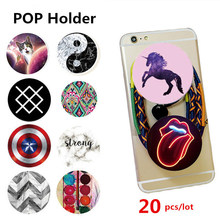 20 pcs/lot POP Mobile Cell Phone Holder Expanding Stand Car Grip Socke Mount For iPhone Samsung Smartphones Tablets Universal
