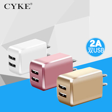 CYKE USB Charger 5V 2A Universal Portable Travel Wall For Samsung China/US/CEU Plug Mobile Phone Charger for iPhone Laptop(China)
