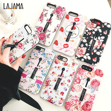 Buy iphone 6s 6 7/8 PLUS Fashion flower silicon Ring Phone Case iphone x Case Hide Stand Holder Cover iphone 6s for $2.78 in AliExpress store
