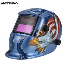 Welding Helmet Premium Mask Solar Auto Darkening Welding Helmet cap Arc Tig Mig Grinding Eagle Welding Soldering Supplies(China)