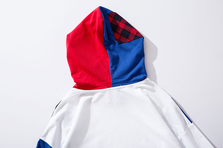 Color Block Patchwork Hoodies 7